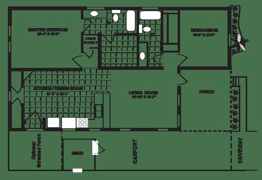 Zephyr II Floor Plan